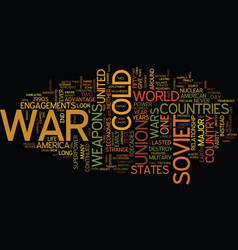 The cold war text background word cloud concept vector