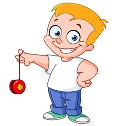 yo yo kid vector image vector image