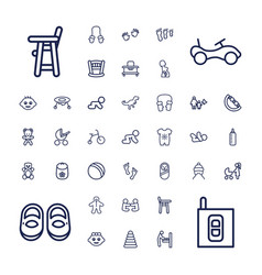 37 baby icons vector