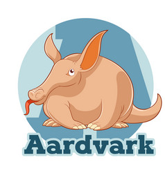 Abc cartoon aardvark vector
