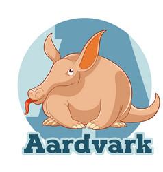 abc cartoon aardvark vector image