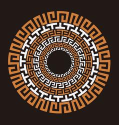 Ancient greek round meander key vector