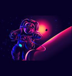 astronaut art in vector image