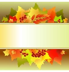 Autumn text box vector