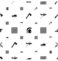 Battle icons pattern seamless white background vector