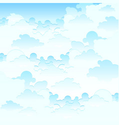 Blue sky clouds background vector