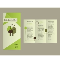 Brochures and flyer design template in polygonal vector image