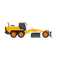 Bulldozer heavy grader construction machine vector