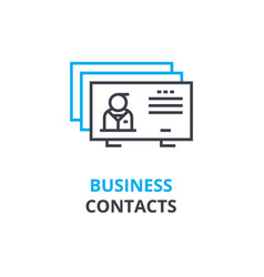 Business contacts concept outline icon linear vector