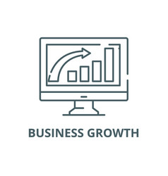 business growth line icon business growth vector image
