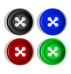 buttons set of multicolored buttons vector image