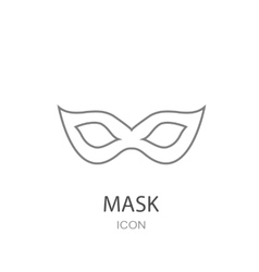 Carnival mask Icon Flat style object Art picture vector