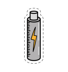 Cartoon battery charging power image vector