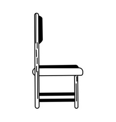 Chair sideview icon image vector