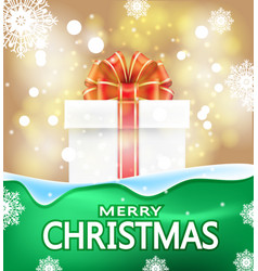 christmas background with words merry vector image