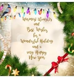 christmas greeting card eps 10 vector image