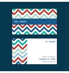 colorful ikat chevron horizontal stripe frame vector image