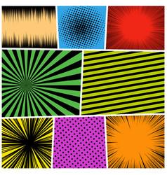 comic page book bright concept vector image