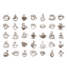 concept of coffee logo brown vector image