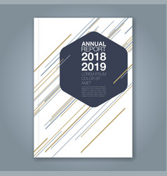 cover annual report 943 vector image