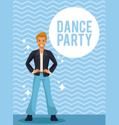 dance party card vector image