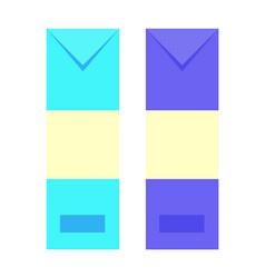 envelopes different color vector image