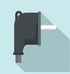 Europe plug icon flat style vector