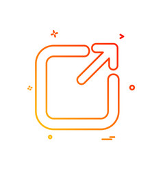 exit icon design vector image