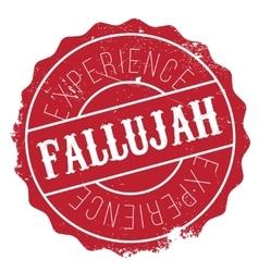 Fallujah stamp rubber grunge vector