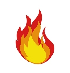 fire flame isolated icon vector image