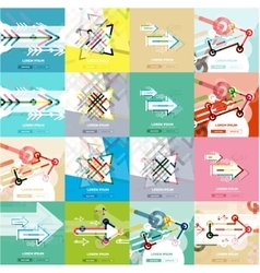 Flat design banners with arrow shape vector image