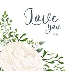 Floral card design garden white flower vector
