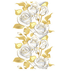 Flower border realistic rose 3d vector