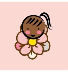 Girl woman flower vector