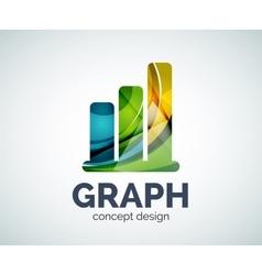 Graph logo template vector