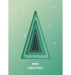 Green Christmas tree made of paper original vector