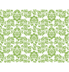 Greenery flower leaves seamless pattern background vector