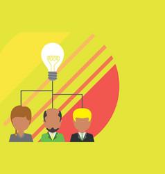 Group three people sharing idea icon executive vector