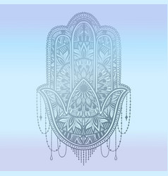 Hamsa talisman religion asian gradient pastel vector
