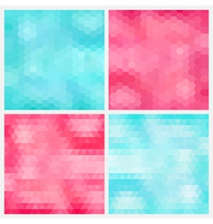 Happy abstract aquamarine and pink geometric vector