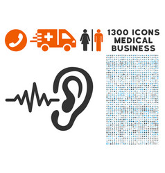 hearing signal icon with 1300 medical business vector image