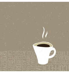 hot coffee cup concept vector image