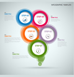 Info graphic with colorful abstract round speech vector