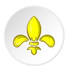 Knight ornament icon cartoon style vector image