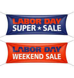 Labor day super weekend sale banner vector