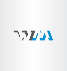 letter w and m logotype logo icon vector image
