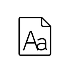 Line grammar letter file icon vector