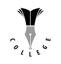 Logo college vector