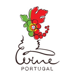 Logotype sign - wine from Portugal vector