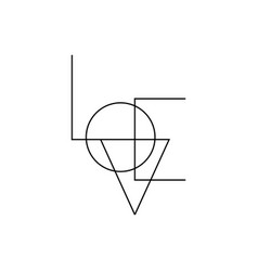 love minimalist text icon valentines symbol vector image